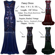 Prom Gown 1920's Flapper Dress Gatsby Long Bridesmaid Evening Party Dresses 8-20