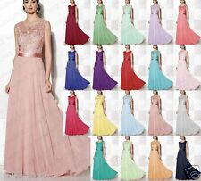 Formal Lace Wedding Dress Evening Party Ball Gown Long Prom Bridesmaid Dress6-18