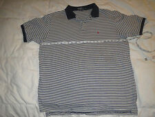 Polo by Ralph Lauren NAVY WHITE STRIPED Men's POLO Shirt Size XL