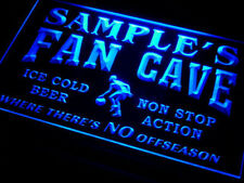 Man Cave light sign - Personalized name basketball fan cave beer bar sign