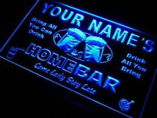 Home bar custom light sign - Bar pub beer wall decor personalized name