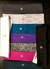 100% AUTHENTIC LULULEMON FLY AWAY TAMER HEADBAND BLACK PINK BLUE GREY PURPLE