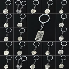 Love Heart Fathers Mothers Grandma Gifts Keyring Dog Paws Pet Key Chain Keychain