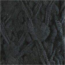 Fun and Funky Bamboo Fiber Blend Yarn, Bulky, 100g/skein Poodle Black