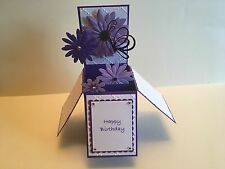 Handmade card Happy Birthday/ Personalised-daisy flowers with butterfly design