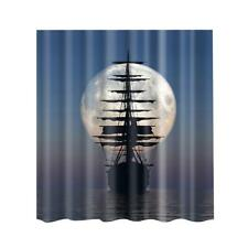Fabric Shower Curtain With 12 Hooks New Bathroom Decor Nature Country Style