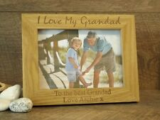 Personalised Engraved Wooden Photo Frame Gift for Grandad Grandpa Fathers Day