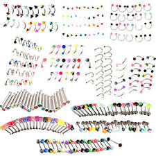 20PCS EYEBROW LIP TONGUE NOSE NAVEL BELLY BUTTON RINGS BODY PIERCING NICE