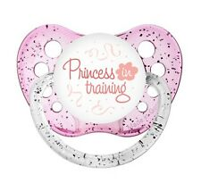 Princess in Training Pacifier - Glitter Pink Soother - Girls Dummy - NUK Binky