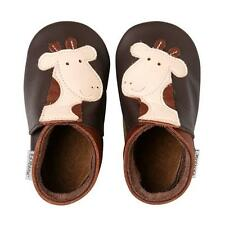 Bobux Giraffe Chocolate Leather Soft Soles
