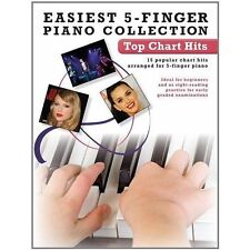 Easiest 5-Finger Piano Collection: Top Chart Hits by Music Sales Ltd NEW !!