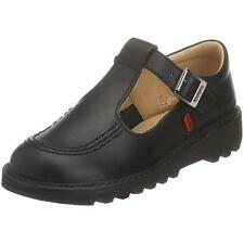 Kickers Kick T Junior Black Leather School Shoes