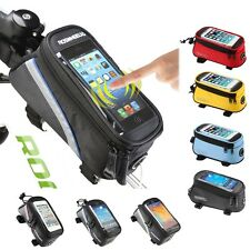 ROSWHEEL BICYCLE BAGS CYCLING BIKE FRAME IPHONE BAGS  HOLDER PANNIER MOBILE PHON