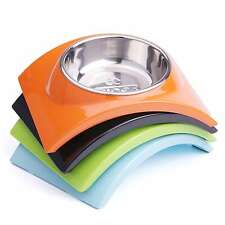 Pet Dog Cat Raised Bowls Removable Stainless Steel Food Water Bowls SuperDesign