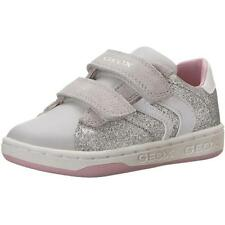 Geox Junior Mania A Silver Textile Shoes