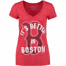 Majestic Threads Boston Red Sox Women's Red Premium Better In My City T-Shirt