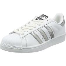 Adidas Originals Superstar White/Silver Leather Trainers