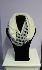Cosy Spotted Fluffy Furry Snood Cowl Circle Scarf