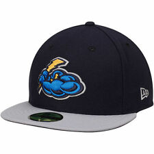 New Era Trenton Thunder Navy/Gray Authentic Road 59FIFTY Fitted Hat - MiLB