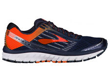 NEW MENS BROOKS GHOST 9 RUNNING SHOES TRAINERS PEACOAT / RED ORANGE / BLACK