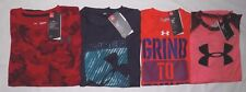 NWT UNDER ARMOUR YOUTH BOYS'  HEAT GEAR LOOSE FIT SHORT SLEEVE T-SHIRTS