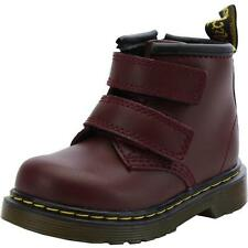 Dr Martens Brooklee BV Infant Cherry Red Leather Ankle Boots