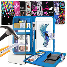 """For Gionee Marathon M5 Mini (5"""") Design Pattern Printed Clamp Wallet Case + TP"""