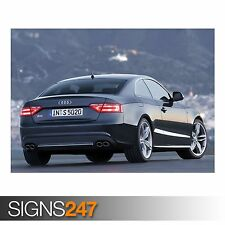 AUDI S5 COUPE CAR 4 (AC716) CAR POSTER - Photo Picture Poster Print Art A0 to A4
