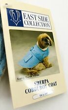 EAST SIDE COLLECTION - Sherpa Corduroy Dog Blue Coat  ADORABLE - TEACUP SIZE