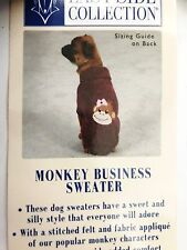 EAST SIDE COLLECTION NWT - Monkey Business Dog Sweater - TEACUP SIZE - NEW