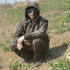 Camouflage Hunting Suit Waterproof Ghillie Suits Jacket&Pants for Bird Watching
