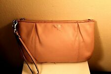 COACH WRISTLET PURSE 100% AUTHENTIC LIGHT PINK 100% GENUINE LEATHER