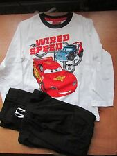 Disney Pixar Cars Boys Long Pyamas  ages 4 years White top with Black bottoms