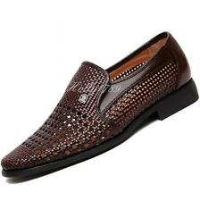 Classic Men's Sandals dress summer Weave style Slip On Loafers sandals