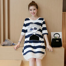 Summer Pregnant Women Striped Cotton Casual Pregnancy Clothes Maternity Dress