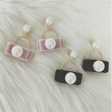 Stud Earrings Earrings For Women 1Pair Cute Pearl Earring Pearl Design Velvet