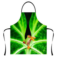 Polyester Kitchen Apron Amazing Frog Pattern High Quality Pinafore Restaurant