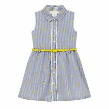 J By Jasper Conran Kids Girls' Blue Striped Embroidered Dress From Debenhams