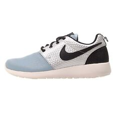 Nike Wmns Roshe One LX Running Womens Shoes Silver Blue NWOB 881202-002
