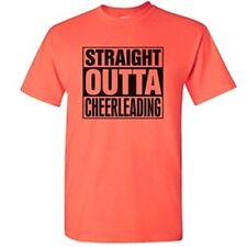 Cheerleading Straight Outta Cheerleading Hot Coral T-Shirt