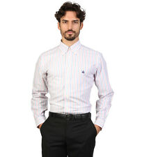 Brooks Brothers - Shirt slim fit colour white with stripes pink
