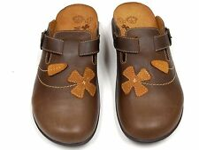 Orthaheel Deva Chocolate Leather Clog w/ Arch Support Adjustable Straps size 7**