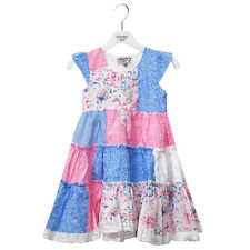 GIRLS CHILDRENS NEW SUMMER DRESS PATCHWORK LACE FLORAL AGE 3 4 5 6 7 8 9 10 11