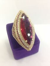 925 STERLING SILVER HANDMADE JEWELRY SUBLIME PINKISH RED RUBY LADIES RING