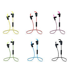 (5pcs)Bluetooth V4.1 Sports Earphone Stereo Earbuds Headset W/ In-Line Mic