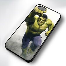 THE INCREDIBLE HULK RUN BLACK PHONE CASE COVER FITS IPHONE 4 5 6 7 (#BH)