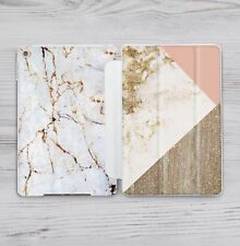 Pink Gold Marble Hard Back Case Smart Cover Apple iPad Pro Air Mini 2 3 4