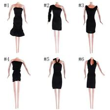 Black Dress Clothes Gown Outfit Fit for Barbie Doll Children Gift Doll Dress
