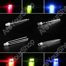 LED 3mm Dual Bi-Color Water Clear Diffused Bright Common Cathode Anode Diode BS1