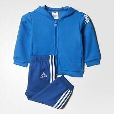 adidas infant/baby boys 2 col blue tracksuit. Jogging suit. Age 0-24 Months.
